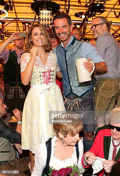 Vanessa Mai and Florian Silbereisen during the opening of the oktoberfest 2016 at the Schottenhamel beer tent at Theresienwiese on September 17 2016...