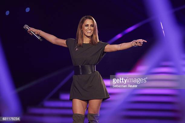 Vanessa Mai is seen on stage at the 'Das grosse Fest der Besten' tv show at Velodrom on January 7 2017 in Berlin Germany