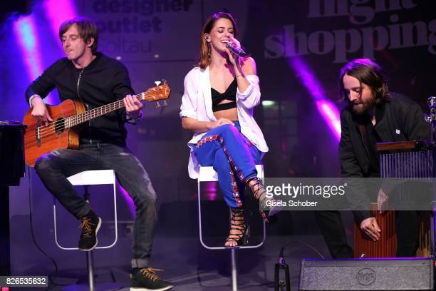Vanessa Mai performs during the late night shopping at Designer Outlet Soltau on August 4 2017 in Soltau Germany
