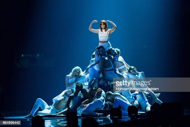 Vanessa Mai performs during the show 'Das Internationale Schlagerfest' at Westfalenhalle on October 21 2017 in Dortmund Germany