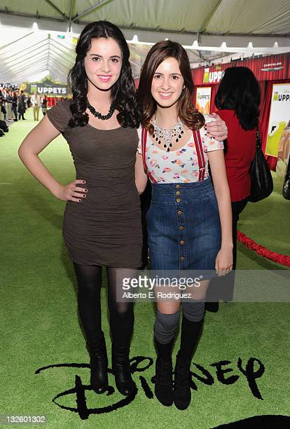 Vanessa Marano and Laura Marano arrive at Walt Disney Presents The Premiere of 'The Muppets' at El Capitan Theatre on November 12 2011 in Los Angeles...