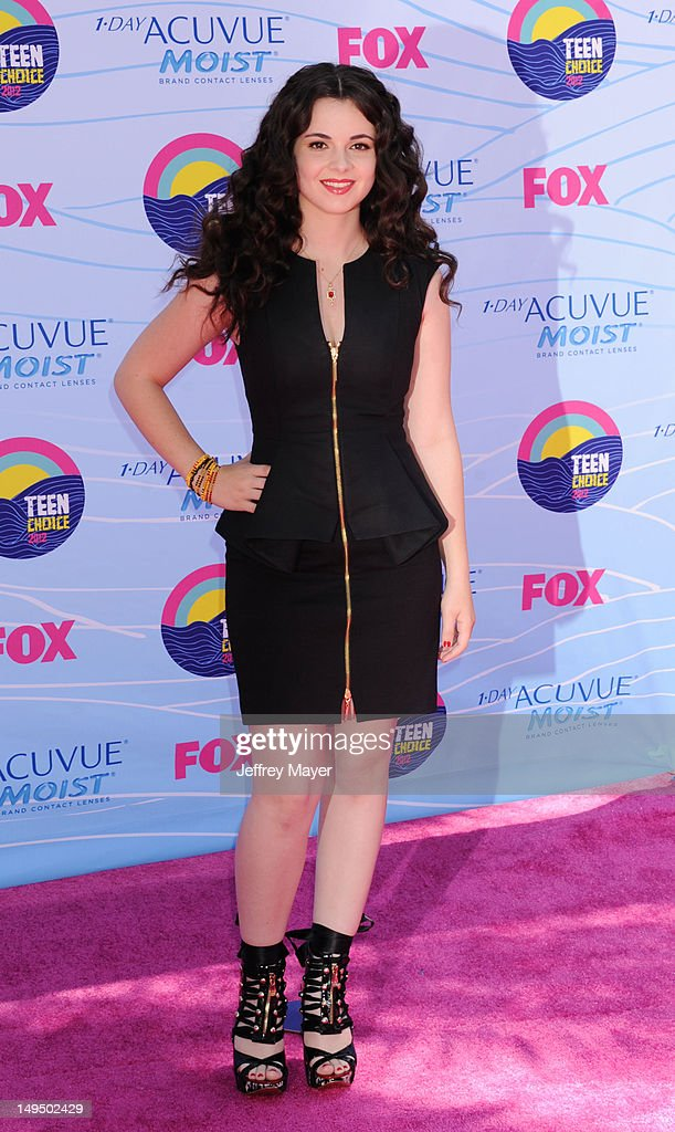 Vanessa Marano arrives at the 2012 Teen Choice Awards at Gibson Amphitheatre on July 22 2012 in Universal City California