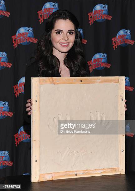 Vanessa Marano visits Planet Hollywood Times Square on March 5 2014 in New York City