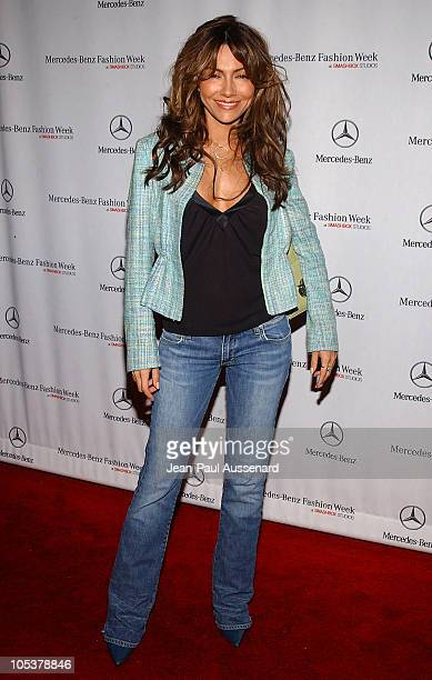 Vanessa Marcil during MercedesBenz Fall 2004 Fashion Week at Smashbox Studios Day 4 Arrivals at Smashbox Studios in Culver City California United...
