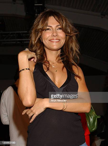 Vanessa Marcil during MercedesBenz Fashion Week Fall 2004 at Smashbox Studios Tyler Frontrow at Smashbox Studio in Culver City California United...