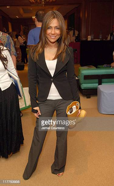 Vanessa Marcil with boots from the Frye Boot Gift Station