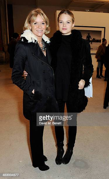 Vanessa Mary Teresa Llewellyn Hubbard and Gabriella Wilde attend a private view of Nikolai Von Bismarck's new photography exhibition 'In Ethiopia' at...