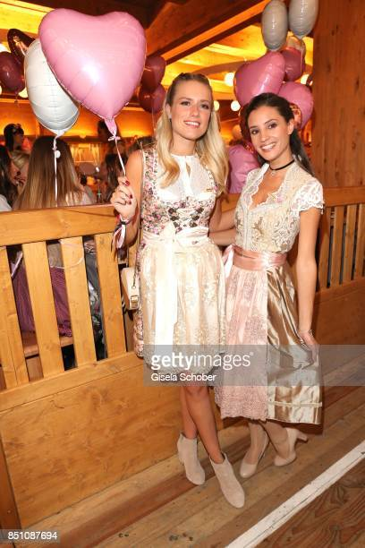 Vanessa Meisinger and Nadine Menz at the 'Madlwiesn' event during the Oktoberfest at Theresienwiese on September 21 2017 in Munich Germany