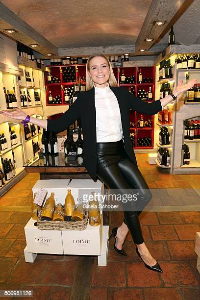 Vanessa Meisinger during the Smoking Cocktail at Kaefer Atelier on January 26 2016 in Munich Germany