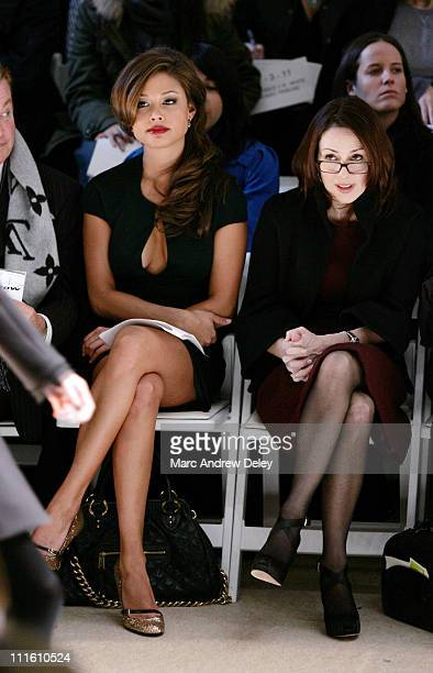 Vanessa Minnillo and Patricia Heaton during MercedesBenz Fashion Week Fall 2007 Monique Lhuillier Front Row and Backstage at The Promenade Bryant...