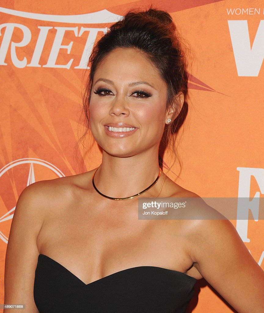 Vanessa Minnillo arrives at the Variety And Women In Film Annual Pre-Emmy Celebration at Gracias Madre on September 18, 2015 in West Hollywood, California.