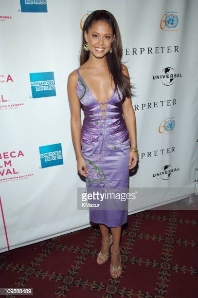 Vanessa Minnillo during 4th Annual Tribeca Film Festival 'The Interpreter' Premiere Inside Arrivals at Ziegfeld Theatre in New York City New York...