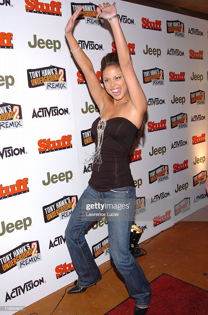 Vanessa Minnillo during Jeep Activision and Stuff Magazine Launch Tony Hawk's Underground 2 Remix at Marquee in New York, New York, United States.