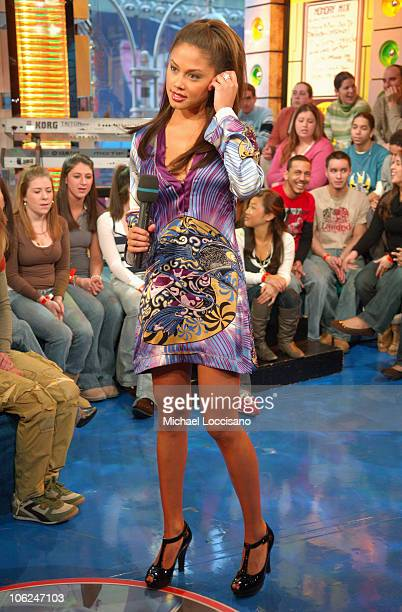 Vanessa Minnillo during Katharine McPhee and Gnarls Barkley Visit MTV's 'TRL' February 5 2007 at MTV Studios Times Square in New York City New York...