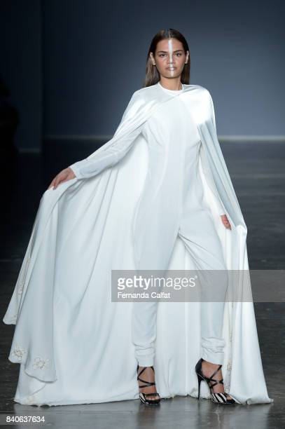 Vanessa Moe Runway at SPFW N44 Winter 2018 at Ibirapuera's Bienal Pavilion on August 29 2017 in Sao Paulo Brazil