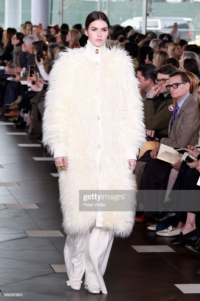 Vanessa Moody walks the runway at the Tory Burch FW17 Show during New York Fashion Week at at The Whitney Museum of American Art on February 14, 2017 in New York City.