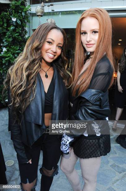 Vanessa Morgan and Madelaine Petsch attend the Popular X Wildfox Cover Launch Event For Madelaine Petsch in Los Angeles on June 12 2017 in Los...