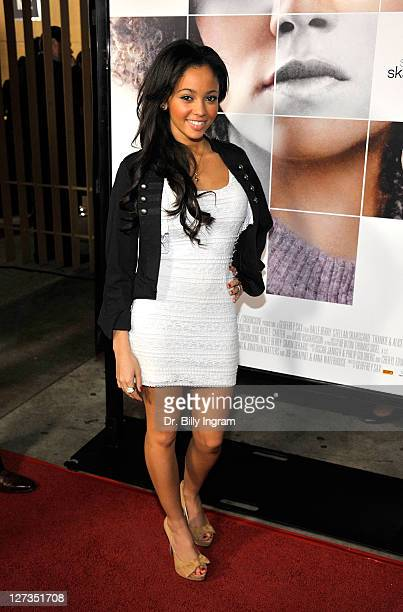 Vanessa Morgan arrives at the 'Frankie And Alice' Los Angeles Premiere at the Egyptian Theatre on November 30 2010 in Hollywood California