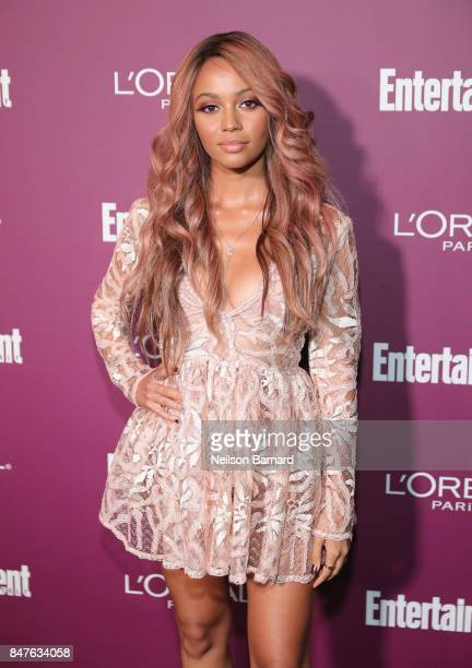 Vanessa Morgan attends the 2017 Entertainment Weekly PreEmmy Party at Sunset Tower on September 15 2017 in West Hollywood California