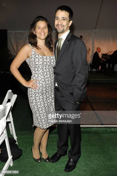 Vanessa Nadal and LinManuel Miranda attend BETTE MIDLER'S NEW YORK RESTORATION PROJECT at New Leaf Restaurant and Bar on May 19 2009 in New York City