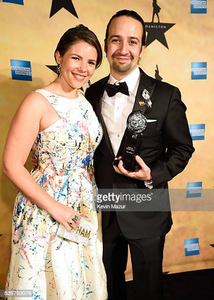 Vanessa Nadal and LinManuel Miranda attend The American Theatre Wing's 70th Annual Tony Awards 'Hamilton' After Party at Tavern On The Green on June...