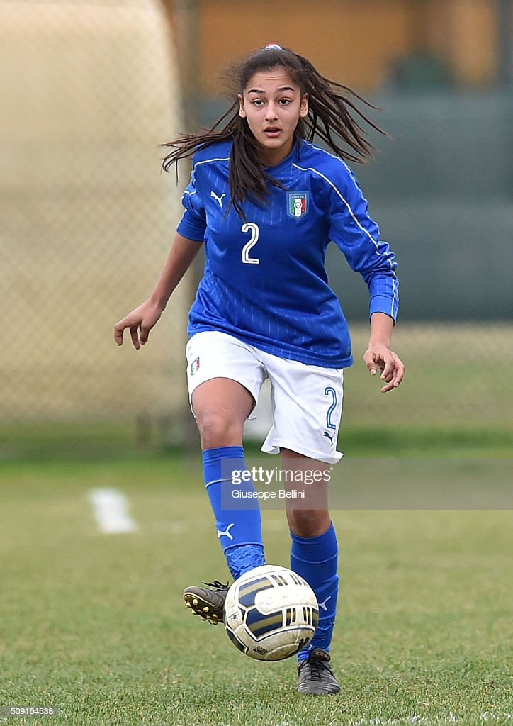 Vanessa Panzeri of Italy in action during the Women's U17 international friendly match between Italy and Norway on February 9, 2016 in Cervia, Italy.