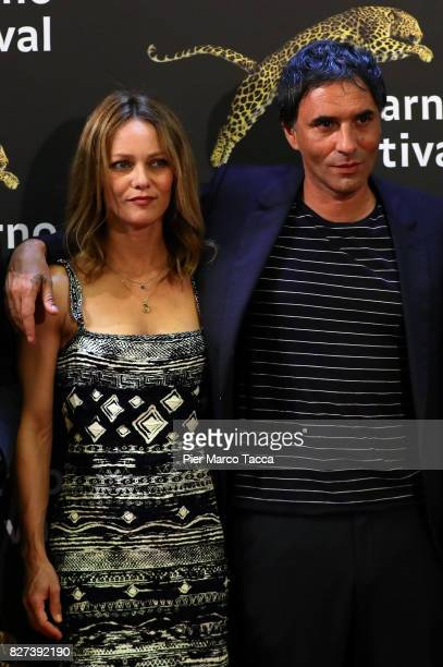Vanessa Paradis and Samuel Benchetrit attend the 'Chien' premiere during the 70th Locarno Film Festival on August 7 2017 in Locarno Switzerland