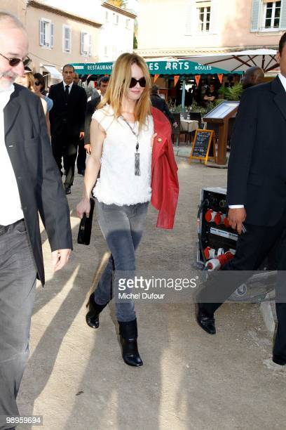 Vanessa Paradis arrive for play bowling at place des Lices on May 10 2010 in SaintTropez France