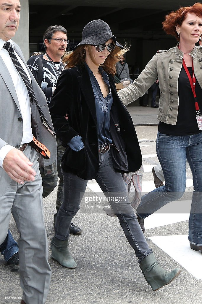 Vanessa Paradis arrives at Nice airport to attend the 66th Annual Cannes Film Festival on May 15, 2013 in Nice, France.