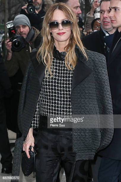 Vanessa Paradis arrives at the Chanel Haute Couture Spring Summer 2017 show as part of Paris Fashion Week on January 24 2017 in Paris France