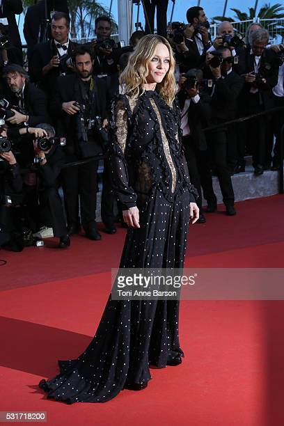 Vanessa Paradis attends a screening of 'From The Land And The Moon ' at the annual 69th Cannes Film Festival at Palais des Festivals on May 15 2016...