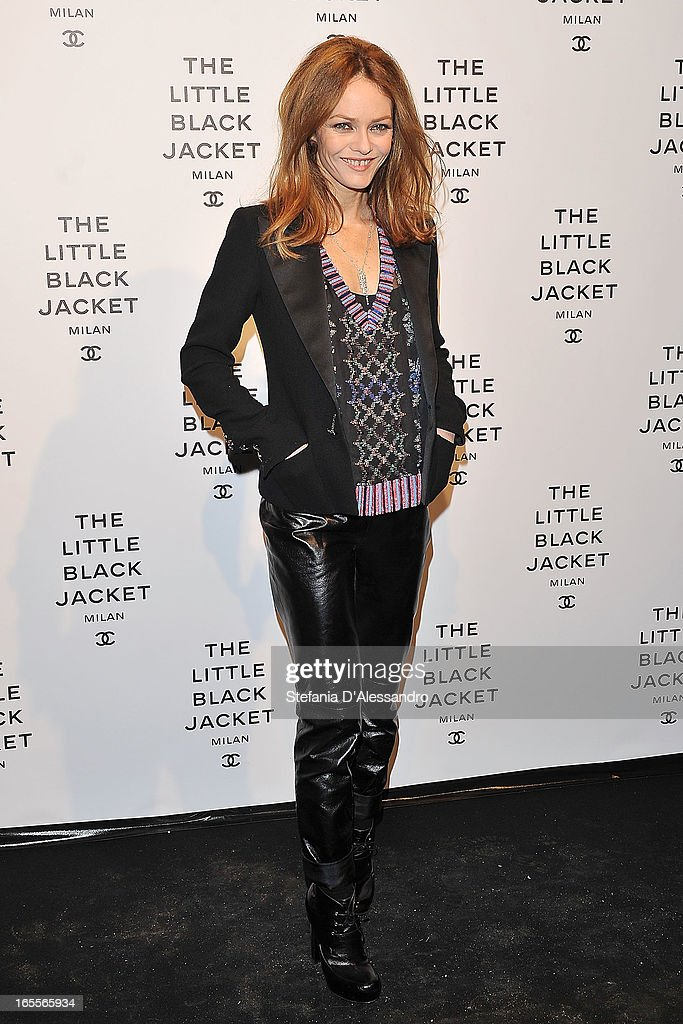 Vanessa Paradis attends Chanel The Little Black Jacket - Karl Lagerfeld Photography Exhibition Dinner Party on April 4, 2013 in Milan, Italy.