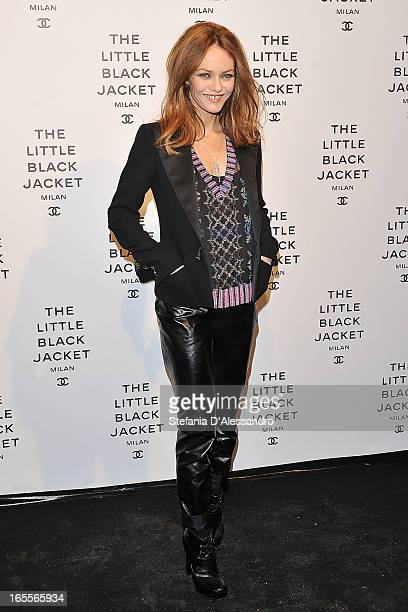 Vanessa Paradis attends Chanel The Little Black Jacket Karl Lagerfeld Photography Exhibition Dinner Party on April 4 2013 in Milan Italy