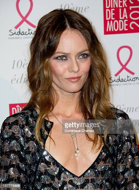 Vanessa Paradis attends Sidaction Gala Dinner 2012 at Pavillon d'Armenonville on January 26 2012 in Paris France