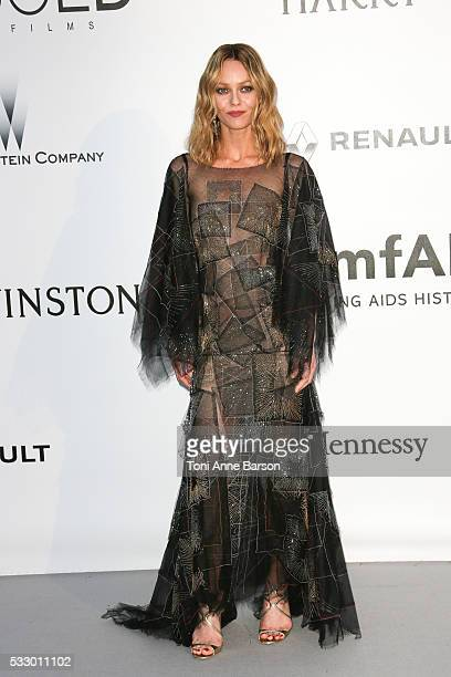 Vanessa Paradis attends the amfAR's 23rd Cinema Against AIDS Gala at Hotel du CapEdenRoc on May 19 2016 in Cap d'Antibes France