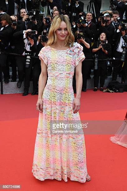 Vanessa Paradis attends the 'Cafe Society' premiere and the Opening Night Gala during the 69th annual Cannes Film Festival at the Palais des...
