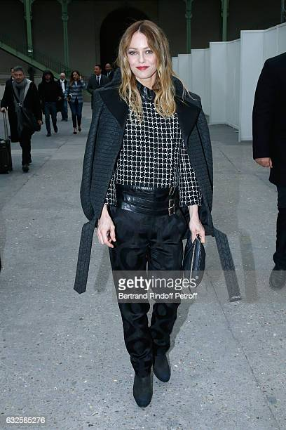 Vanessa Paradis attends the Chanel Haute Couture Spring Summer 2017 show as part of Paris Fashion Week on January 24 2017 in Paris France