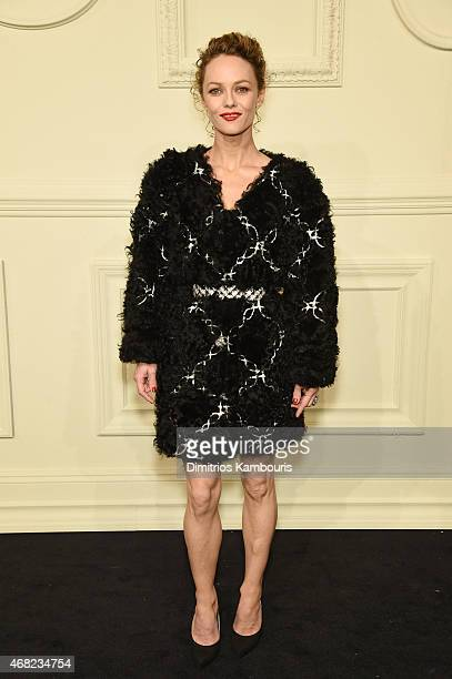 Vanessa Paradis attends the CHANEL ParisSalzburg 2014/15 Metiers d'Art Collection at Park Avenue Armory on March 31 2015 in New York City