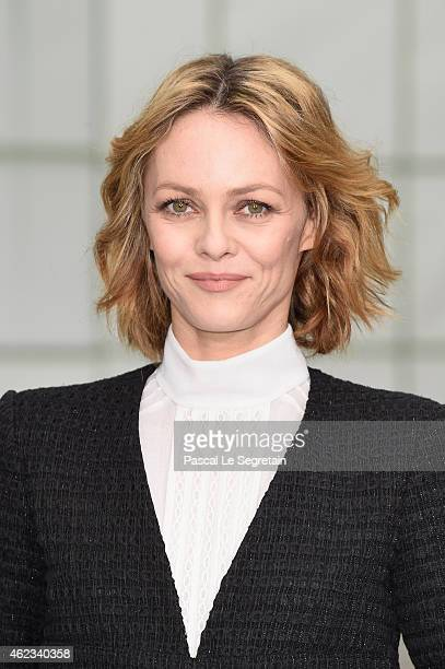 Vanessa Paradis attends the Chanel show as part of Paris Fashion Week Haute Couture Spring/Summer 2015 on January 27 2015 in Paris France