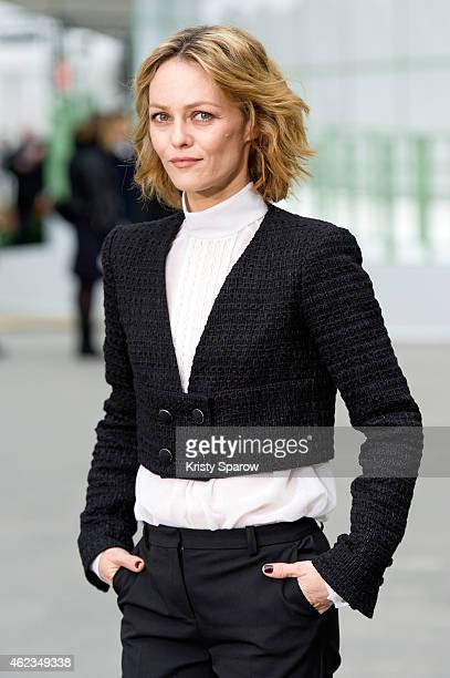 Vanessa Paradis attends the Chanel show as part of Paris Fashion Week Haute Couture Spring/Summer 2015 at the Grand Palais on January 27 2015 in...