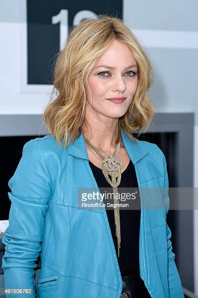 Vanessa Paradis attends the Chanel show as part of the Paris Fashion Week Womenswear Spring/Summer 2016 on October 6 2015 in Paris France