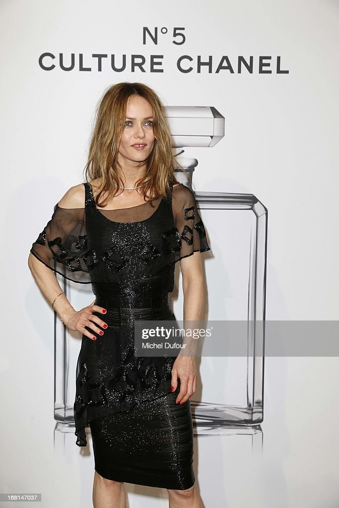 <a gi-track='captionPersonalityLinkClicked' href=/galleries/search?phrase=Vanessa+Paradis&family=editorial&specificpeople=206631 ng-click='$event.stopPropagation()'>Vanessa Paradis</a> attends the 'No5 Culture Chanel' Exhibition - Photocall at Palais De Tokyo on May 3, 2013 in Paris, France.