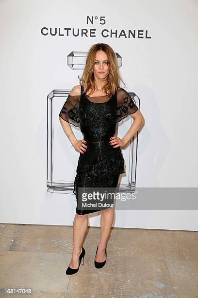 Vanessa Paradis attends the 'No5 Culture Chanel' Exhibition Photocall at Palais De Tokyo on May 3 2013 in Paris France