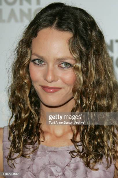 Vanessa Paradis during 'Mont Blanc' 100th Anniversary Party Arrivals at Palexpo in Geneva Switzerland
