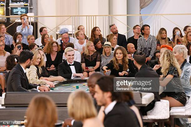 Vanessa Paradis GabrielKane DayLewis Violette d'Urso Alice Dellal and Rita Ora attend the Chanel show as part of Paris Fashion Week Haute Couture...