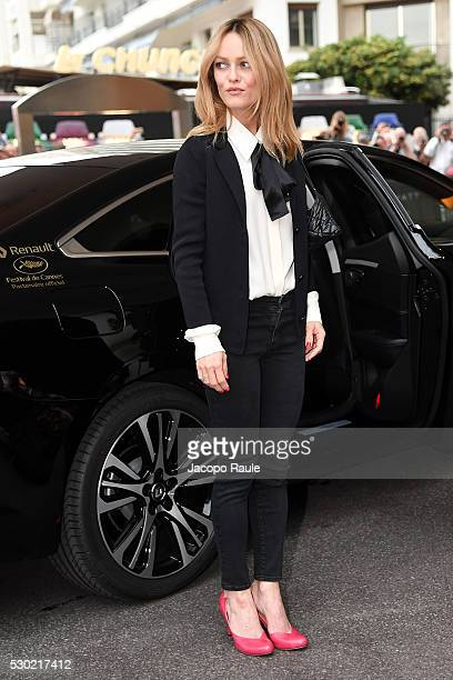 Vanessa Paradis is seen arriving at Jury Members Welcome Cocktail at Hotel Martinez during the annual 69th Cannes Film Festival at on May 10 2016 in...