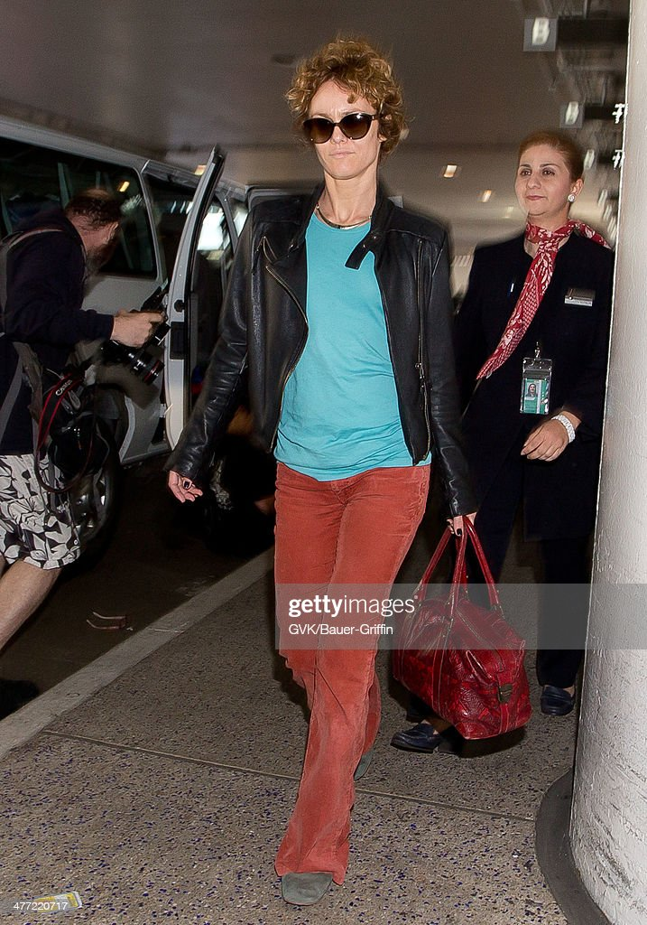 Vanessa Paradis is seen at LAX on March 07, 2014 in Los Angeles, California.