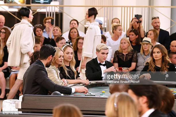 Vanessa Paradis Jemima Kirke GabrielKane DayLewis and Violette d'Urso attend the Chanel show as part of Paris Fashion Week Haute Couture Fall/Winter...