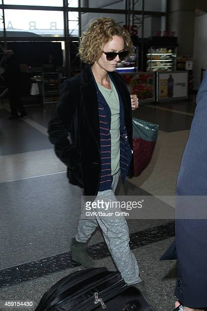 Vanessa Paradis seen at LAX on November 17 2014 in Los Angeles California