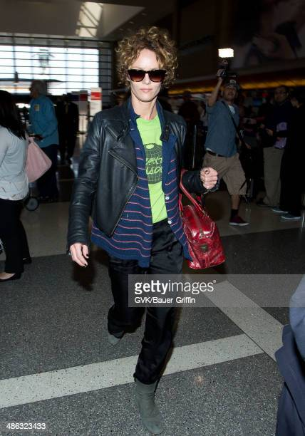 Vanessa Paradis seen at Los Angeles International on April 23 2014 in Los Angeles California